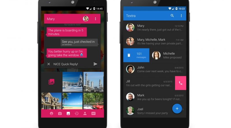 Top Five Messaging apps on Android