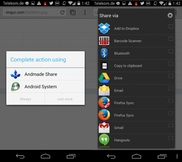 andmade-share-interface-android
