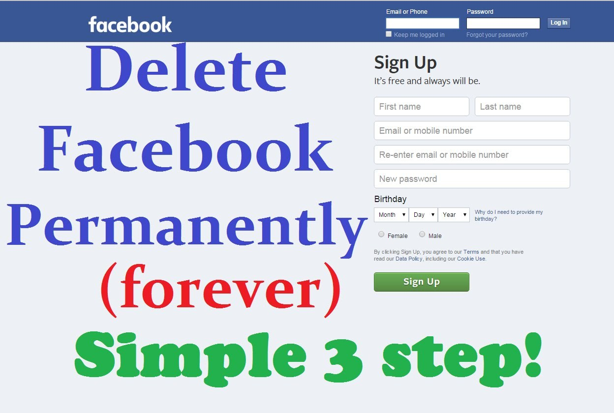 How to delete facebook account permanently follow the steps and it is quite easy to apply but think twice is you are doing anything permanently about the facebook platform ccuart Images