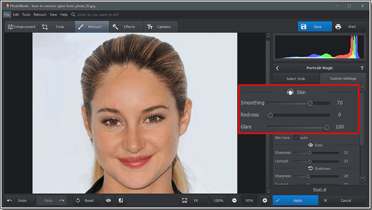 PhotoWorks Review–User-Friendly Photo Editor for a PC to Remove Glare and Improve Photos